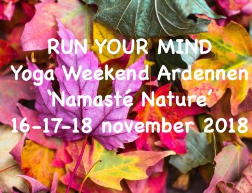 Yoga Weekend Ardennen 16 – 17 – 18 november '18